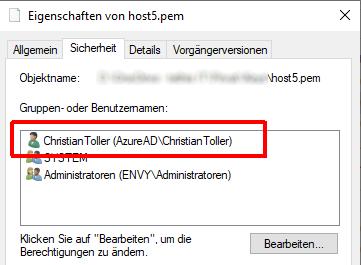 Einem AzureAD User Rechte auf eine Datei geben